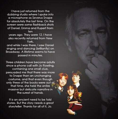 Alan Rickman Quote of the Day | The Magic Word